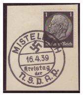 Dt-Reich (007323) Sonderstempel Auf Briefstück,Mistelbach Kreistag Der NSDAP, Gestempelt Am 16.4.1939 - Deutschland