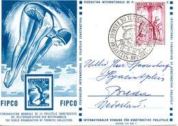BELGIQUE. Carte Commémorative De 1957. Plongeon. - Kunst- Und Turmspringen