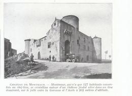 1924 - Iconographie - Montmaur (Aude) - Le Château - FRANCO DE PORT - Old Paper