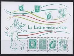 = La Lettre Verte A 3 Ans TVP Marianne Et La Jeunesse, Beaujard, Cérès Semeuse Feuillet 4908 4909 4593 4774 Neuf - Neufs
