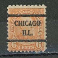 USA : -  COURANT - N° Yvert 233 Obli.  CHICAGO ILL. - Vorausentwertungen