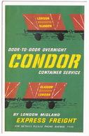 CONDOR Container Service By London Midland Express Freight - London Glasgow - Glasgow London - Treinen