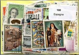 Lot 100 Timbres Espagne - Kilowaar (max. 999 Zegels)