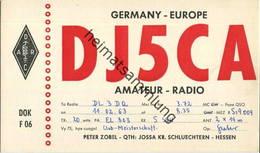 QSL - Funkkarte - DJ5CA - 36381 Schlüchtern - 1963 - Amateurfunk