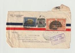 MiNr. 368 U.a.  Kolumbien 1935. Freimarken: Industrie; Druckvermerk AMERICAN BANKNOTE CO. - Kolumbien