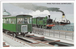 Ryde Pier Head Departures - The Busy Solent & Isle Of Wight - Treinen