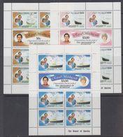 The Grenadines Of St. Vincent 1981 Royal Wedding 3v Sheetlets (50c Value Some Brown Spots) (41501) - St.-Vincent En De Grenadines