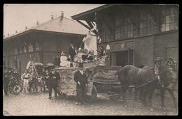 GENT UITZONDERLIJKE FOTOKAART - GEBUURTESTOET OSSENSTRAAT 1907 STEDELIJK SLACHTHUIS _ 2 AFBEELDINGEN - Gent