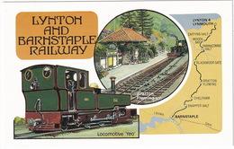 Lynton And Barnstaple Railway - Locomotive 'Yeo' - Bratton Fleming Station - Eisenbahnen