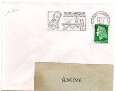 CALVADOS - Dépt N° 14 = THURY HARCOURT 1969 = FLAMME PREMIER JOUR = SECAP Illustrée D'une COIFFE 'en SUISSE NORMANDE' - Marcophilie (Lettres)