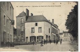 1 Cpa Legé - Carrefour Du Haut De La Rue De La Chaussée - Legé
