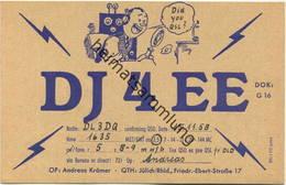 QSL - Funkkarte - DJ2SK - 52428 Jülich - 1958 - Amateurfunk