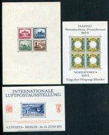 Deutschland / 3 Int. Ausstellungsbloecke (1/699) - Deutschland