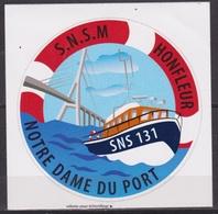 Vedette De Sauvetage En Mer - FRANCE - S.N.S.M. - Honfleur, Calvados - Commemorative Labels