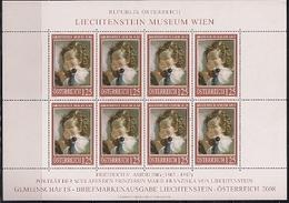 2008 Austria Österreich Mi. 2720 **MNH Sheet   Gemälde Im Liechtenstein-Museum, Wien - Blocks & Kleinbögen