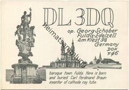 QSL - Funkkarte - DL3DQ - 36043 Fulda-Edelzell - Ca. 1960 - Amateurfunk