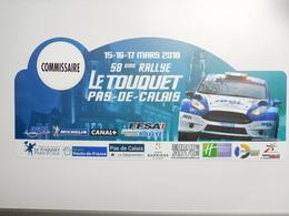 Belle Plaque De Rallye , 58e Rallye Le Touquet , FFSA , Auto Ford RS  , Michelin , Commissaire - Voitures (Courses)