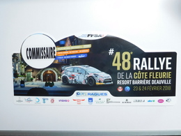 Belle Plaque De Rallye , 48e Rallye De La Côte Fleurie , FFSA  , Auto Ford  , Commissaire - Voitures (Courses)
