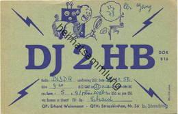 QSL - Funkkarte - DJ2HB - 94342 Strasskirchen - 1958 - Amateurfunk
