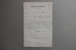 Mise En Demeure De Payer, Docteur Moutier à Montargis (Loiret), 1876 - Collections