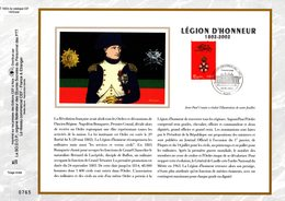 """"""" LA LEGION D'HONNEUR / NAPOLEON """" Sur Feuillet CEF 1er Jour De 2002 """" N° 1602s. N° YT 3490. FDC - Napoleon"""