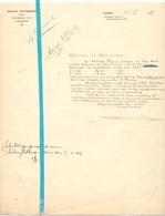 Brief Lettre - Notaris Prosper Thuysbaert Lokeren - Naar Kadaster 1927 + Brief Met Antwoord 1928 - Old Paper
