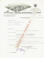 Brief 1940 STUTTGART-CANNSTATT - Fr. HESSER, MASCHINENFABRIL-AKTIENGESELLSCHAFT - Spezialfabrik Für Verpackunsmaschinen - Allemagne
