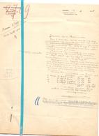 Brief Lettre - Notaris Prosper Thuysbaert Lokeren - Naar Kadaster 1928 + Brief Met Antwoord - Vieux Papiers
