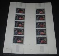 France 1961 Neuf** N° 1321 Tableau De PAUL CEZANNE ( Les Joueurs De Cartes ) Feuille Complète (full Sheet) 10 Timbres - Ganze Bögen
