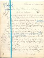 Brief Lettre - Brugwachter Jozef Van Geert Lokeren - Naar Kadaster 1928 + Brief Met Antwoord - Old Paper