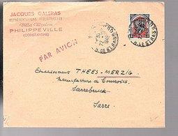 1949 Jacques Galers Villa Myziem Philipville 1949 > Saarland Thees Merzig (328) - Cartas
