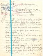 Brief Lettre - Hoogleraar Jozef Cochez Leuven - Naar Kadaster 1928 + Brief Met Antwoord - Old Paper