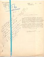Brief Lettre - Notaris Prosper Thuysbaert Lokeren - Naar Kadaster 1928 + Brief Met Antwoord - Old Paper