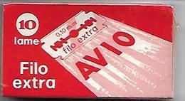L62- SCATOLETTA 10 LAMETTE DA BARBA -AVIO - Lamette Da Barba