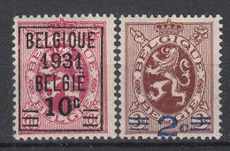 BELGIË - OBP - 1932 - Nr 333/34 - MH* - Neufs