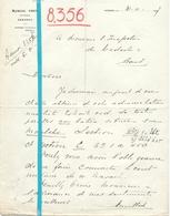 Brief Lettre - Industrieel Marcel Cock Lokeren - Naar Kadaster 1927 + Brief Met Antwoord - Old Paper