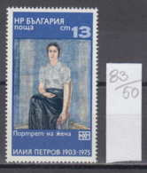 50K83 / 2584 Bulgaria 1976 Michel Nr. 2519 - BULGARIAN ART Seated Woman By  Ilya Petrov - Künste