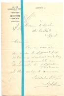 Brief Lettre - Usines Gonzalez Cock Lokeren - Naar Kadaster 1927 + Brief Met Antwoord - Old Paper