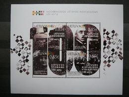Centenary Of Lithuanian Authorities # Lietuva Litauen Lituanie Litouwen Lithuania # 2018 MNH #Mi. 1292/5 Block61 - Lituanie