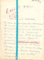 Brief Lettre - Frantz De Raedt Chateau D'Ueberg Lokeren - Naar Kadaster 1923 + Brief Met Antwoord - Old Paper