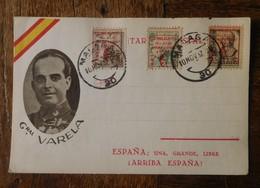 Malaga 1937 General Varela / Espana - 1931-Aujourd'hui: II. République - ....Juan Carlos I