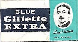 L61 - LAMETTA DA BARBA - BLUE GILLETTE EXTRA - Lames De Rasoir