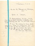 Brief Lettre - Geo Van Dorme - Van Durme Landskouter - Naar Kadaster 1922 + Brief Met Antwoord - Old Paper