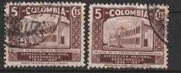 MiNr. 381 - 383  Kolumbien 1937, 4. Jan. Nationale Industrie-Ausstellung, Barranquilla. - Kolumbien