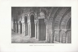 1901 - Phototypie - Angers (Maine-et-Loire) - L'abbaye De Saint-Aubin - FRANCO DE PORT - Old Paper