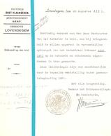 Brief Lettre - Gemeente Lovendegem  - Naar Kadaster 1931 - Old Paper