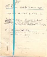 Brief Lettre - Lecoutre Albert Leupegem - Naar Kadaster 1930 + Brief Met Antwoord - Old Paper