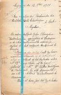 Brief Lettre - Mejuffer Clémentine Vander Haeghen Leupegem - Naar Kadaster 1921 + Brief Met Antwoord - Old Paper