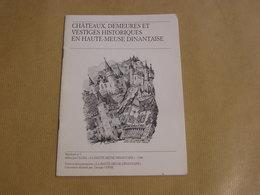 CHÂTEAUX DEMEURES ET VESTIGES HISTORIQUES EN HAUTE MEUSE DINANTAISE Régionalisme Dinant Falaën Bouvignes Yvoir Celles - België