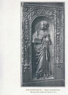 1901 - Phototypie - Les Ponts-de-Cé (Maine-et-Loire) - Un Montant Des Stalles De L'église - FRANCO DE PORT - Old Paper